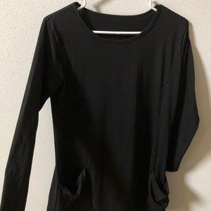 Shein Black Long Sleeve Dress with Pockets